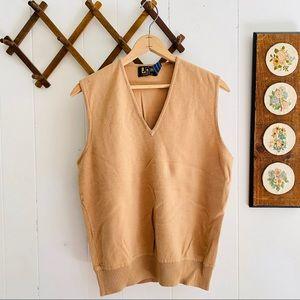 Vintage 70s 80s Pure Wool Sweater Vest